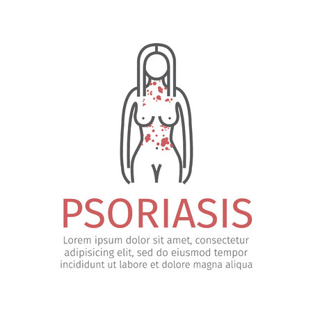 Psoriasis. Vector icon Illustration