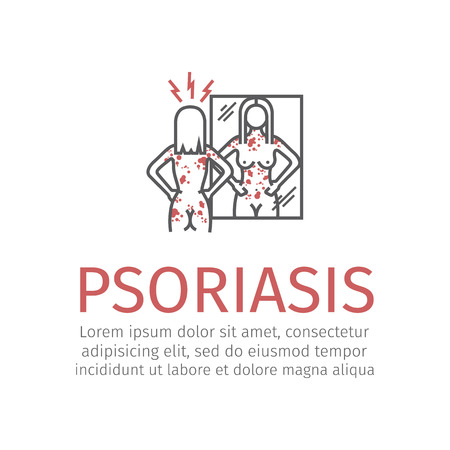 Psoriasis. Vector icon illustration.