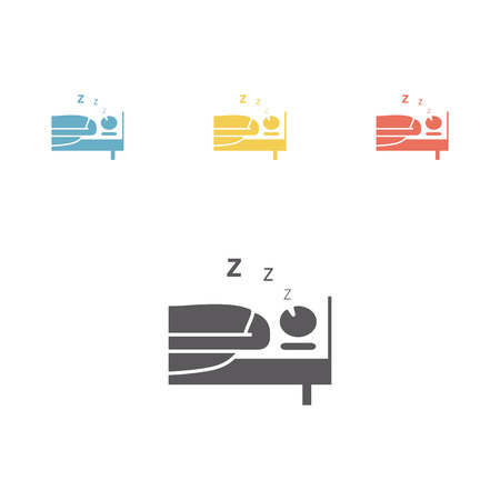 lying in bed: Snoring man. Vector illustration.