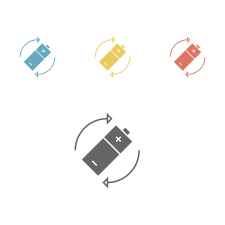 bright: Battery icon. Vector illustration Illustration