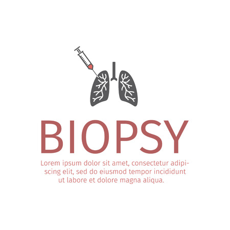 Lungs Biopsy flat icon Stock Vector - 87406984
