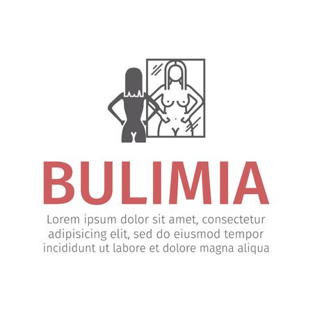 Bulimia, anorexia. flat icon. Vector