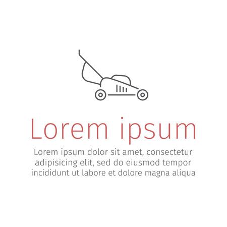 Lawn mower thin line icon. Vector illustration. Ilustração