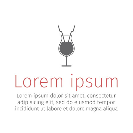 Cocktail icon. Vector illustration Ilustração Vetorial