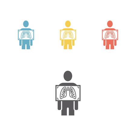 x-ray icon set Illustration