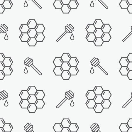 Honey seamless pattern Çizim