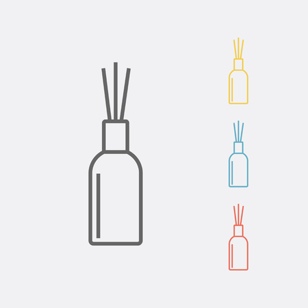 Aromatherapie riet diffuser lijn pictogram. Vector illustratie. Stock Illustratie