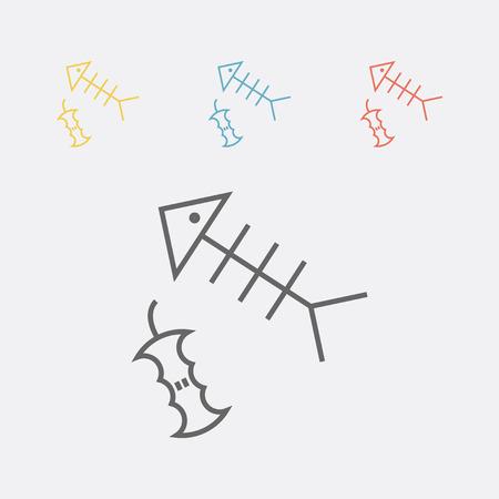 Organic waste line icon Vector illustration. Illustration