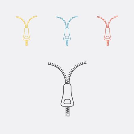 Zipper line icon Imagens