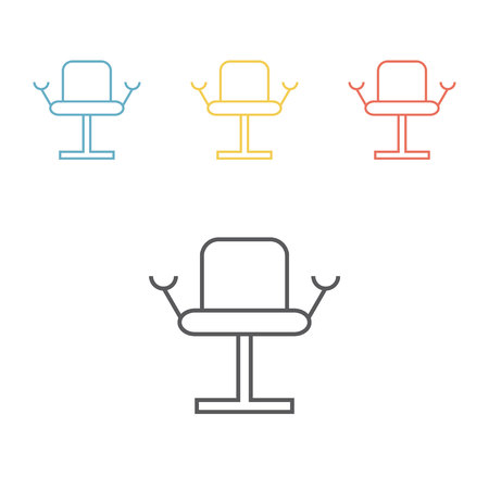 Gynecological chair line icon Illustration