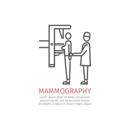 Mammography line icon
