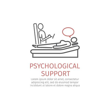 Psychological counseling line icon