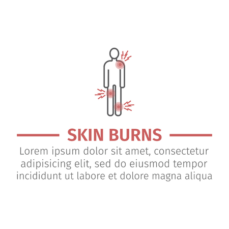Health problems on body icon vector illustration