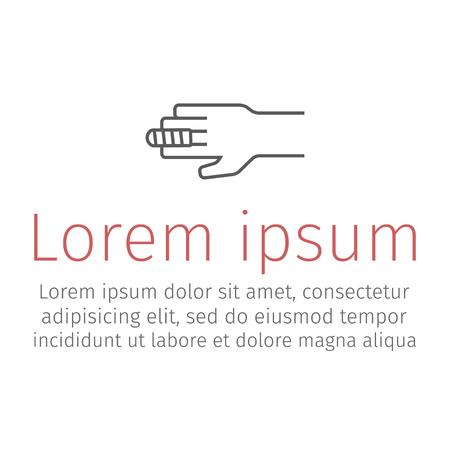 Finger Bandage line icon vector illustration 向量圖像