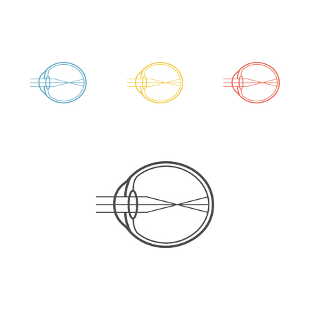 Myopia line icon. Eyeball sign. Vector illustration