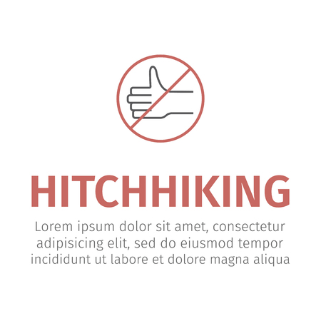 No hitch hiking Vector illustration Illustration