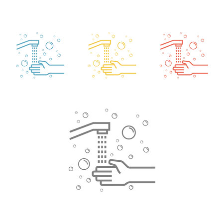 Hygiene line icon Wash hands Vector icon for web graphic.