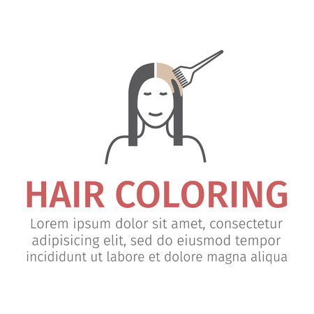 Hair dyeing. Vector sign for web graphic. Illustration