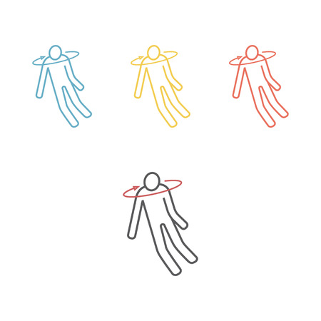 Fainting line icon. Vector illustration Vector Illustration