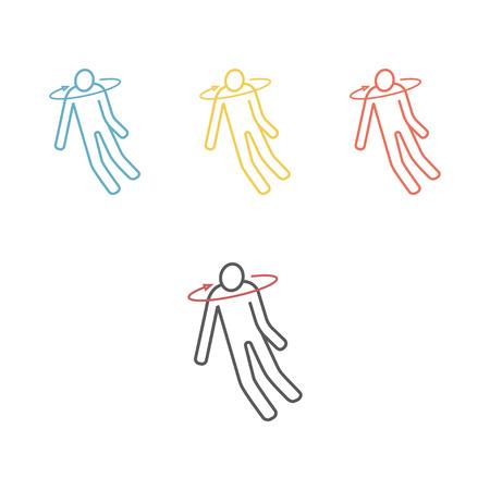 Fainting line icon. Vector illustration Illustration