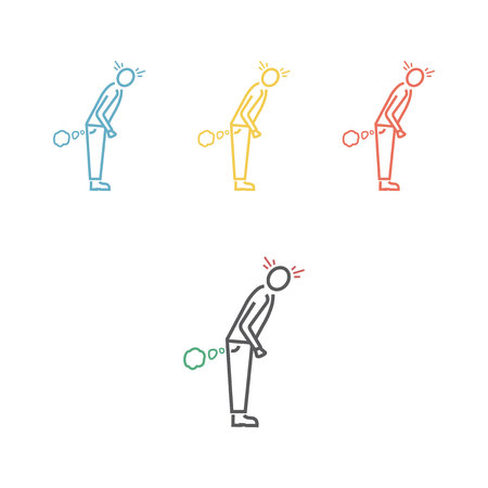 Flatulence. Vector icon for web graphic. Illustration