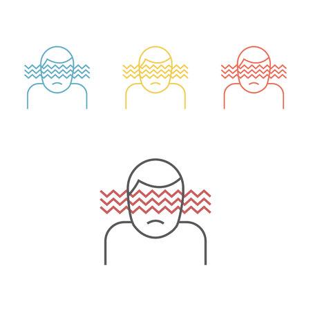 Hallucination line icon. Vector icon for web graphic.