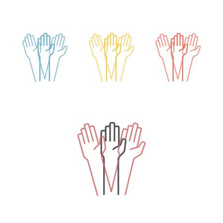 Tremor hands Vector illustration