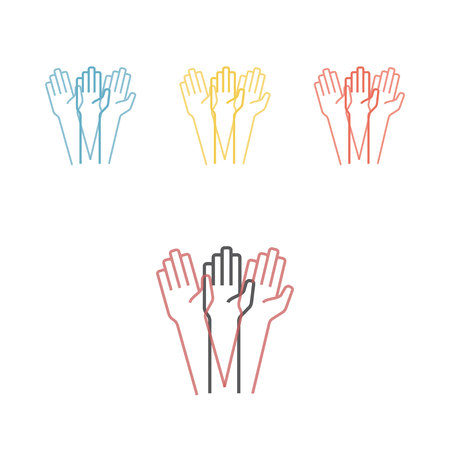 Tremor hands Vector illustration