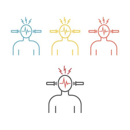 Electroconvulsive therapy Vector icon.