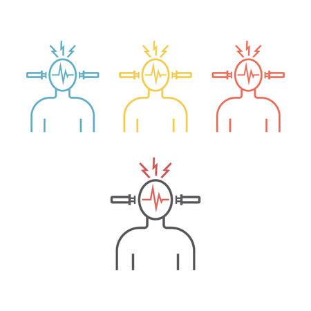 Electroconvulsive therapy Vector icon.