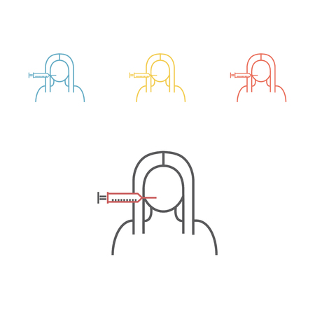 Face injection line icon
