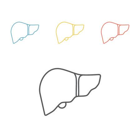 Lever lijn pictogram. Vector teken voor webafbeelding.