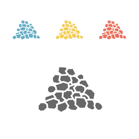 Coal icon, flat style vector illustration. Illustration
