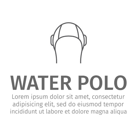 Water polo cap line icon