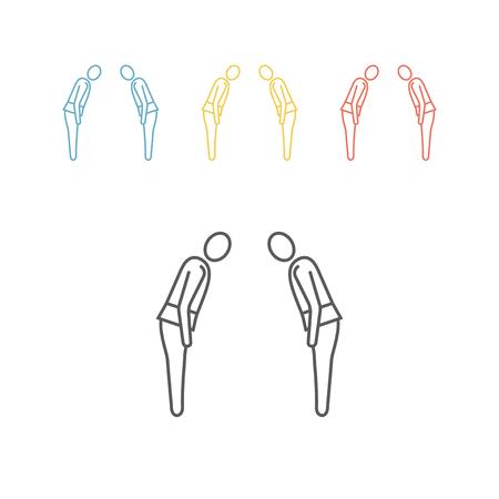 Judo line icon illustration design