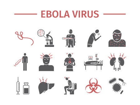 Ebola Virus Disease Infographics. Flat icon