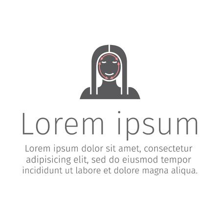 Cosmetic surgery icon. Illustration