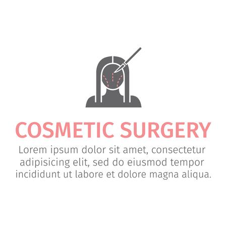 Plastic surgery icon Vectores