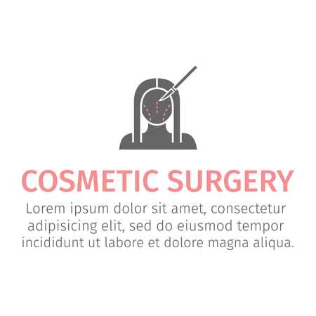 Plastic surgery icon Illustration