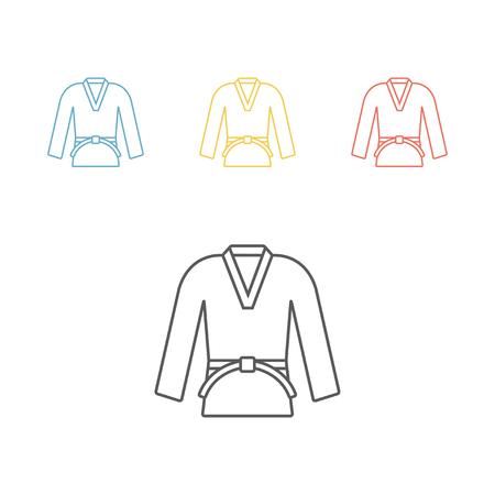 Karate or judo uniform icon Illustration
