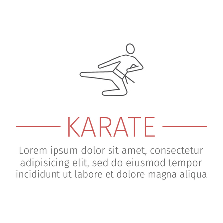 Karate blow line icon