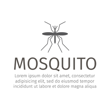 Mosquito icon vector. Vector graphic