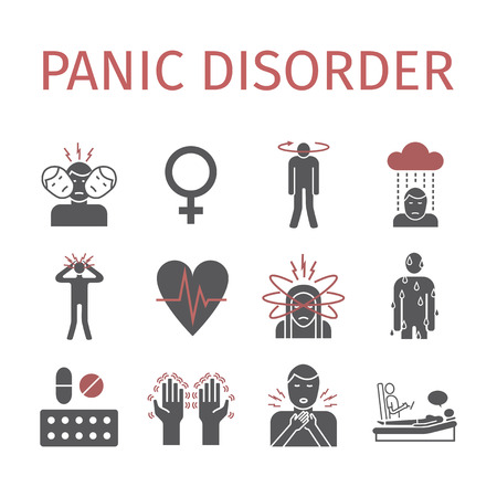 Panic disorder icon info-graphic. Vector illustration.