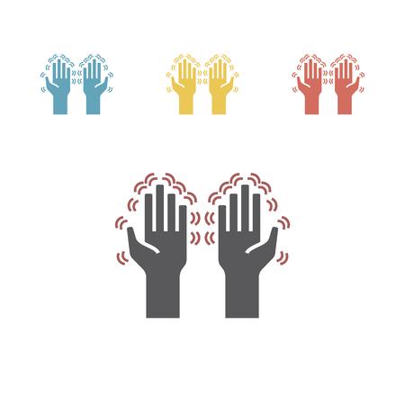 Tremor hands icons set Vector illustration Illustration