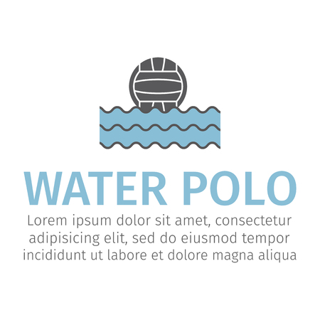 Web icon. Water polo