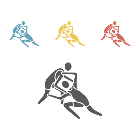 athlete Wrestling icon. Sport vector sign 向量圖像