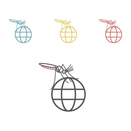 Zika virus line icon. Vector illustration