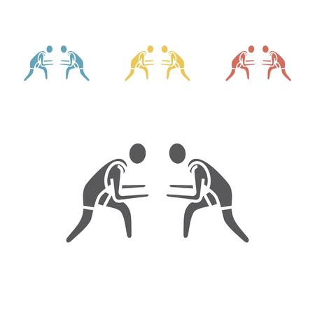 Athlet Wrestling Symbol. Sportvektorzeichen Vektorgrafik