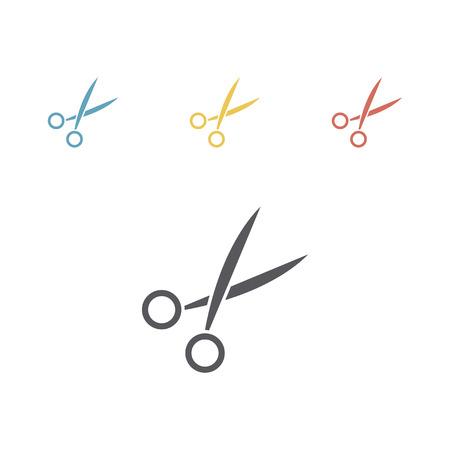 Scissor flat icon. Vector sign
