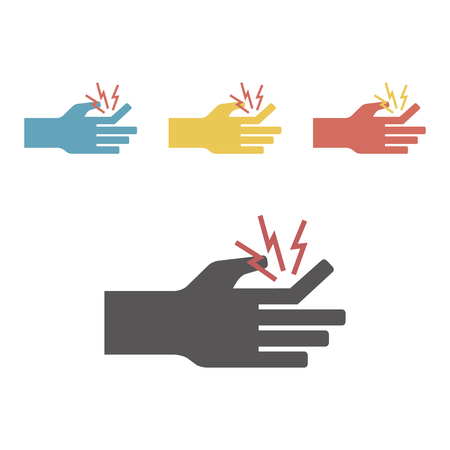 Fracture of a finger icon. Vector signs for web graphics.